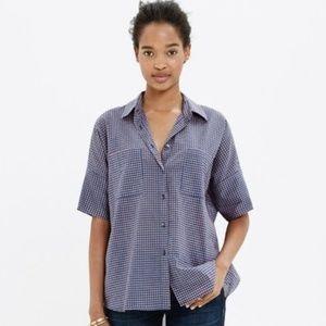 Madewell Courier Shirt Geobud Floral XS, EUC